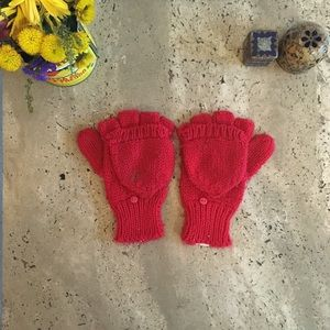 Red Knit Hobo Mittens
